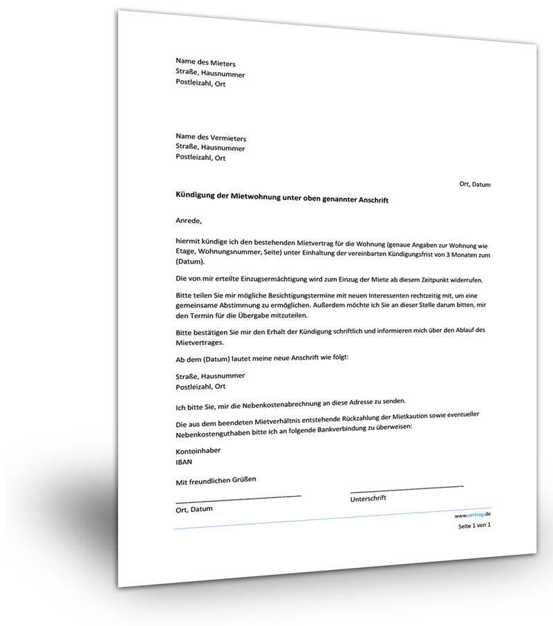 mietvertrag k ndigung ratgeber mietrecht
